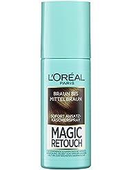 L'Oréal Paris Magic Retouch Ansatz-Kaschierspray, Braun bis Mittelbraun, 1er Pack (1 x 75 ml)