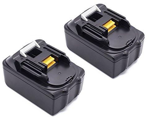 Preisvergleich Produktbild 2STÜCKE 18.0V 5000mAh Lithium-Ion Werkzeugakkus Für Makita 196672-8 Li, (18,0 V/5,0 Ah), BL1850 BL1830 BL1840 BL1815 BL1835 194204-5 194205-3 194309-1 18V Ersatz Batterie