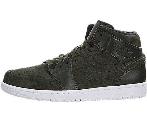 Nike 554724 302 Air Jordan 1 Mid Sneaker Gruen|40 (Air Jordan 554724)