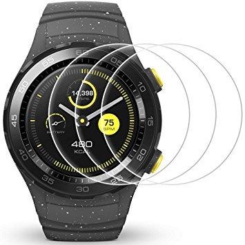 AFUNTA Bildschirm Schutz für Huawei Watch 2, 3 Pack gehärtetes Glas Schutzfolien Anti-Scratch High Definition Cover für Smartwatch