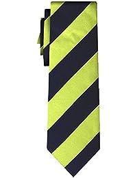 cravate soie rayée stripe L apple navy