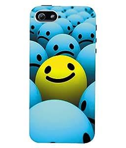Fuson 3D Printed Smiley Designer Back Case Cover for Apple iPhone 5 - D948