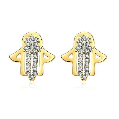 ung Ohrringe Damen Gold Zirkonia Ohrstecker Vogelscheuche Kristall Ohrhänger Verlobung (Vogelscheuche Baby)