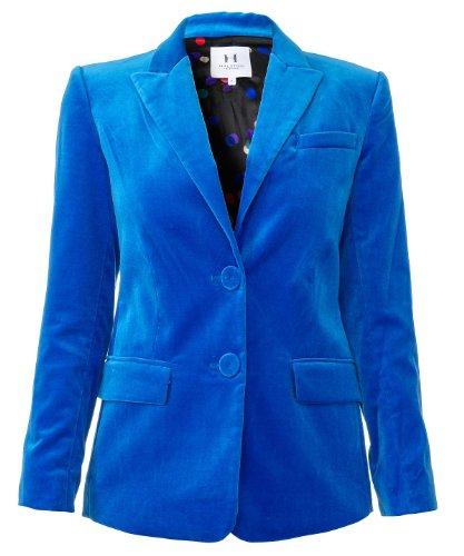 halston-heritage-damen-samtblazer-blau-grosse-l