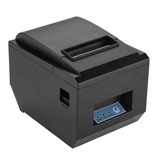 Excelvan - Impresora térmica de recibos y tickets (Interfaz USB, 80mm, 250mm/sec, compatible con Andriod, Windows y Linux),