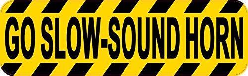 25,4x 7,6cm Go Slow Sound Horn Aufkleber von stickertalk®
