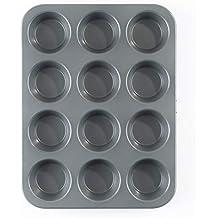 Be Pro Chef Prochef - Bandeja y molde para 12 magdalenas (revestimiento de silicona y