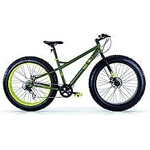 """Bicicletas arena y nieve MBM FAT MACHINE 26 """", frenos de disco (Matt Military/Lime)"""
