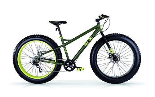 """Bicicletas arena y nieve MBM FAT MACHINE 26 \"""", frenos de disco (Matt Military/Lime)"""