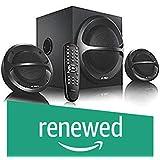 (Renewed) FD A111 X 2.1 Channel Multimedia Bluetooth Speakers (Black)