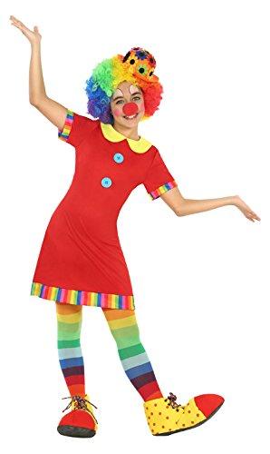 n, Mädchenkostüm, Größe 128 (Mädchen Clown Halloween Kostüme)