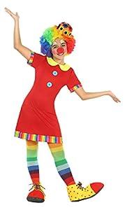 Atosa-22147 Disfraz Payasa, color rojo, 7 a 9 años (22147)