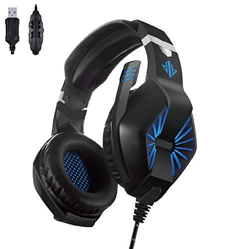 Hengta Gaming Headset Headset-Kabel mit Mikrofon Fernbedienung Kopfhörer 7.1-Kanal-USB-E-Sports-Headset