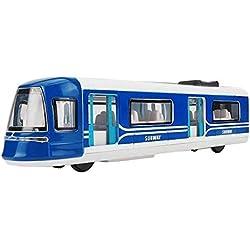 Train de Jouet de métro Modèle Toy Trains Simulation Locomotive Bleu