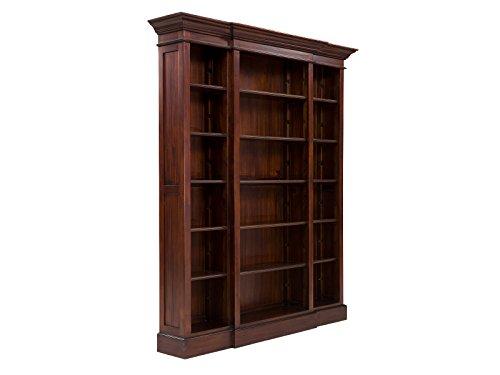Massivum Bücherregal Cambridge, Holz, kolonial / walnuss, 34 x 168 x 210 cm