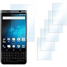 5x BlackBerry KEYone Schutzfolie Klar Display Schutz [Crystal-Clear] Screen protector Bildschirm Handy-Folie Dünn Displayschutz-Folie für BlackBerry KEYone/Mercury Displayfolie - Bildschirm gewölbt, Folie bewusst kleiner