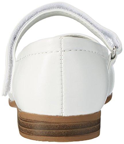 Indigo Mädchen 424 077 Geschlossene Ballerinas Weiß (WHITE)