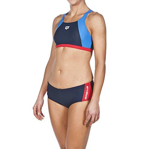 Arena Damen Sport Drom Bikini, Navy/Red/Pix Blue, 36