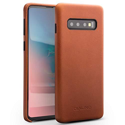 COVO® Coque Samsung Galaxy S10 Plus,Coque arrière pour Affaires Classique,Fait à la Main Etui Premium en Cuir de Vache Coques arrière pour S... 4