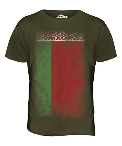 CandyMix Weißrussland Verblichen Flagge Herren T Shirt Khaki Grün