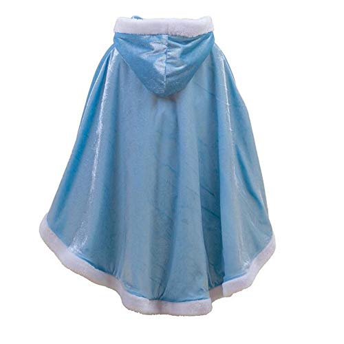 Yeesn Mädchen Halloween-Kostüme Umhang mit Kapuze für Prinzessin ELSA Anna Belle Rapunzel Party Cosplay Outfit Winter Bademantel Jacke