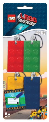 The Lego Movie Brick Keyring Bag Tags - (1 Pack of 4 Supplied)