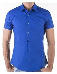 KAYHAN chemise pour homme coupe slim 10 coloris au choix pour femme s-xL -  Blanc - Large