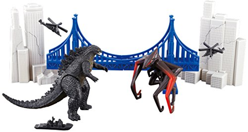 Godzilla 2014 Destruction City diorama