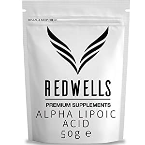 41439vd3ddL. SS300  - REDWELLS - Pure Alpha Lipoic Acid Powder (No Additives) w/Free Scoop!