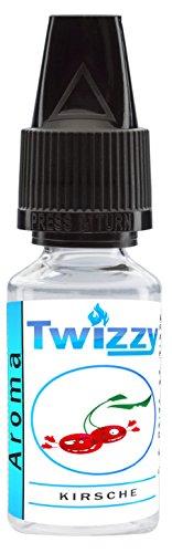 10ml Twizzy Kirsche Aroma | Aroma für Shakes, Backen, Cocktails, Eis | Aroma für Dampf Liquid und E-Shishas | Flav Drops | Ohne Nikotin 0,0mg