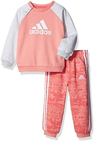 adidas Jungen French Terry Jogginganzug Trainingsanzug, Tacros/Suppnk/White, 68 (French Terry-set Adidas)