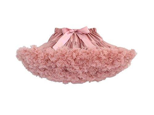 Elfin-Lore Niñas Falda Tutú Princesa de Tul 5-7 Años Ballet Danza Enaguas Carnaval Boda Disfraces Rosa oscuro - M