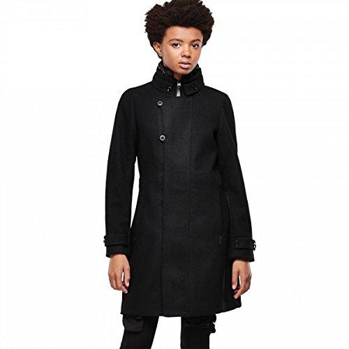 G-STAR Damen Parka Mantel Minor slim coat wmn, Gr. 40 (Herstellergröße: L), Schwarz (black 990)