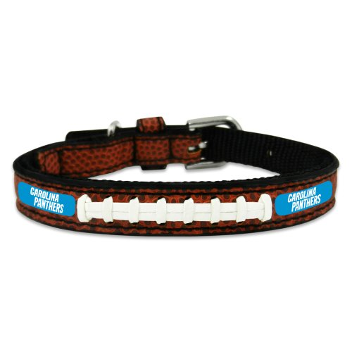 s Halsband Classic Leder Fußball, Spielzeug (Carolina Panthers Hund)