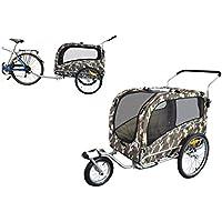PAPILIOSHOP ARGO Remolque y carrito cochecito para el transporte de perro perros mascota por bici bicicleta carro bicicletas silla de paseo