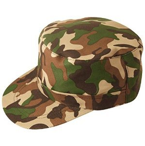 LS Glamour Room -  Vestito  - Donna verde camouflage Army Hat - Cameo Cintura