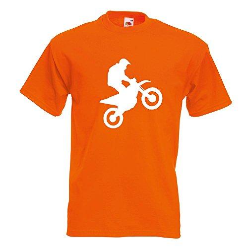 KIWISTAR - Motocross Motorrad Bike T-Shirt in 15 verschiedenen Farben - Herren Funshirt bedruckt Design Sprüche Spruch Motive Oberteil Baumwolle Print Größe S M L XL XXL Orange