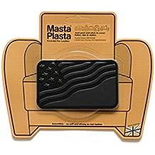 Black MastaPlasta Self-Adhesive Leather Repair Patches. Choose size/design. First-aid for sofas, car seats, handbags, jackets etc. (BLACK FLAG 10cmx6cm)