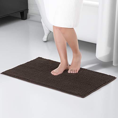 Lifewit Badematte Rutschfest Badvorleger Weich Badteppich Waschbar Duschvorleger aus Chenille Teppich für Badezimmer Küche Schlafzimmer