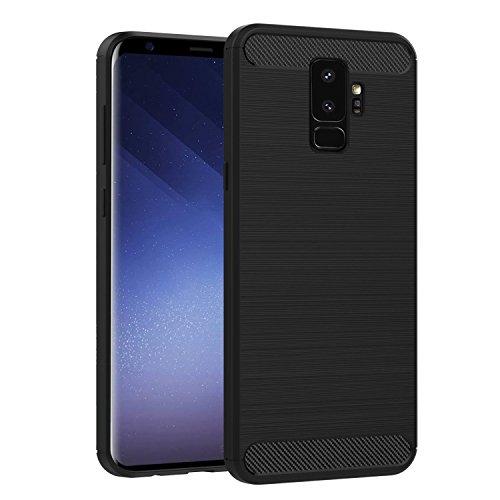 Coque de protection brossée haut de gamme Carbon Fiber Samsung Galaxy S9 4G 2018 – Accessoires pochette XEPTIO case