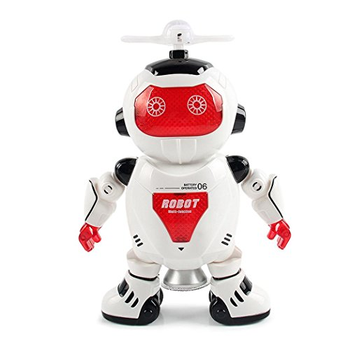 Xshuai 30 CM Höhe Elektronische Walking Tanzen Smart Space Roboter Astronaut Kinder Musik Licht Spielzeug Für Weihnachtsgeschenk (Baby Mädchen Kostüm Roboter)