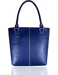 Fargo Fine Line PU Leather Women's & Girl's Shoulder Handbag (Navy Blue_FGO-032)