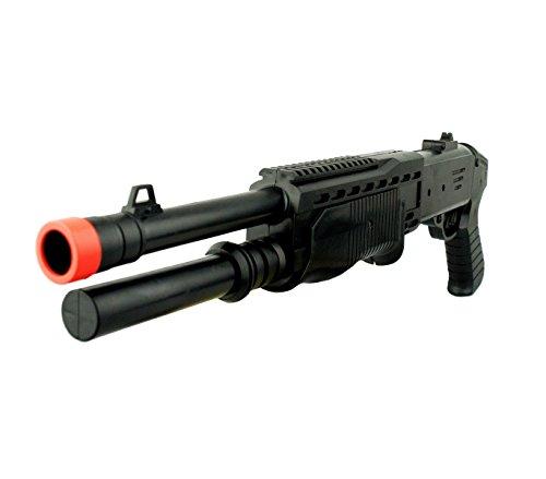 MEDIA WAVE store Fucile a Pompa Giocattolo a Pallini 397264 Calibro 6 mm con mirino Doppia Canna