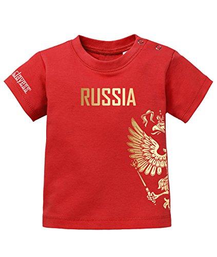 Jayess WM 2018–RUSSIA Águila–Rusia–Baby–Camiseta de by bebé rojo 2/3 años
