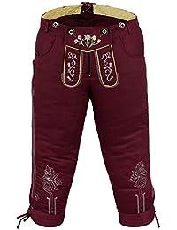 German Wear Damen Trachten Kniebundhose Jeans Hose kostüme mit Hosenträgern in der 4X Farben