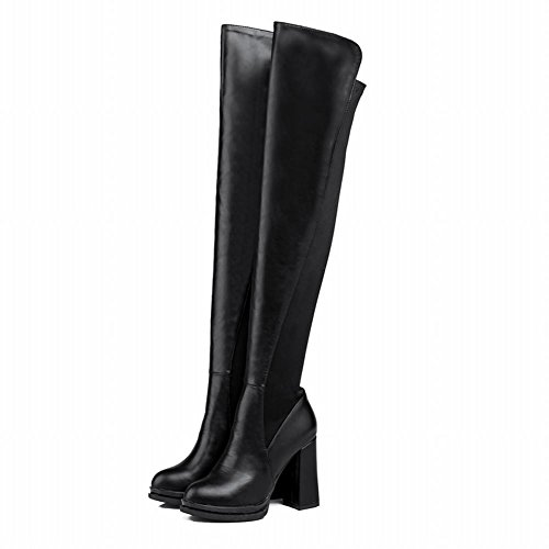 MissSaSa Donna Scarpe col Tacco Alto Elegante e Bello Boots Nero