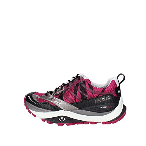Moon Boot Tecnica Trail Runn Dragon Max Gtx® Ws, Damen Sneakers, Mehrfarbig - Antracita/Rojo - Größe: EU 39.5 (UK 6)