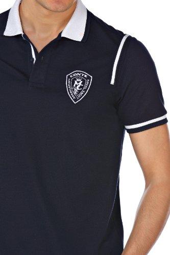 ... M.Conte Herren Polo-Shirt Polohemd Polo Kurzarm Polokragen Blau Weiß M  L XL XXL ...