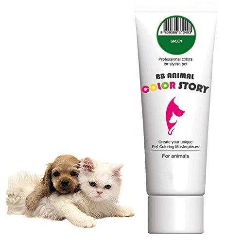 Green 50ml Dog Hair Dye Hair Coloring Professional Colors for Stylish Pet