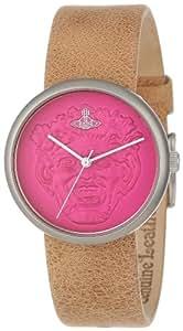 Vivienne Westwood Unisex-Armbanduhr Neptune Analog Leder beige VV021PKTN